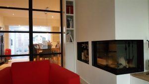 Pach bouw, pachbouw, pach bouw bv, Modern huis, aannemer in amstelveen, Openhaard, ingebouwde openhaard