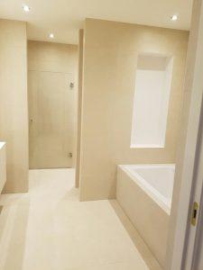 Pach bouw, pachbouw, Moderne badkamer, badkamer idee, aannemer in amstelveen, Douche, zandtegels