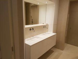 Pach bouw, pachbouw, Moderne badkamer, badkamer idee, aannemer in amstelveen, wasbak, badkamer wasbak